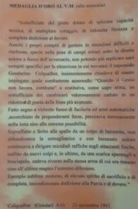 Motivazione medaglia d'oro a Ruggiero Stella
