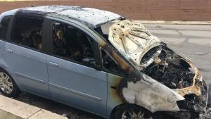 Auto bruciata Barletta